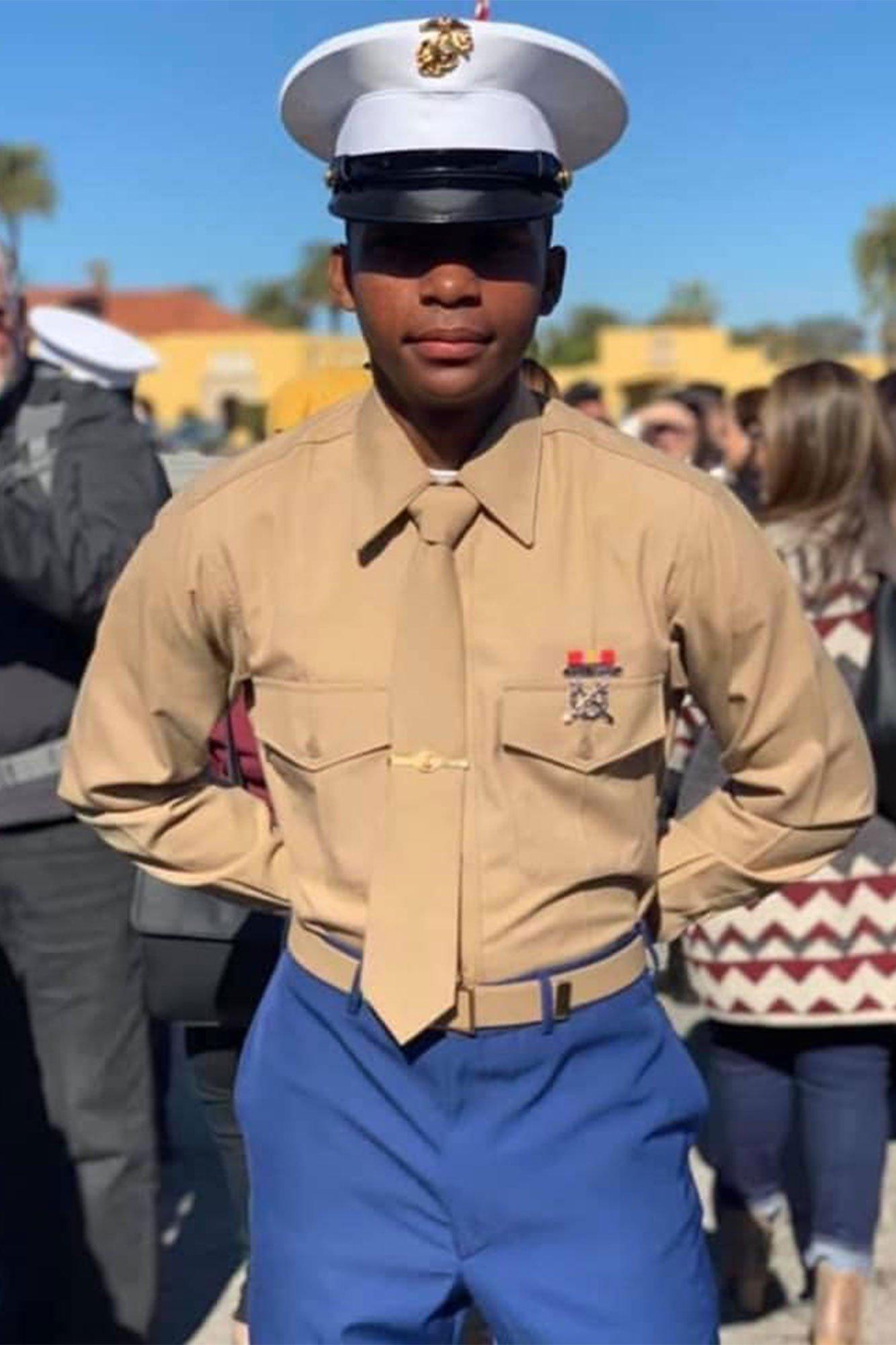Camran Kashawn Collier in Marine Corps uniform