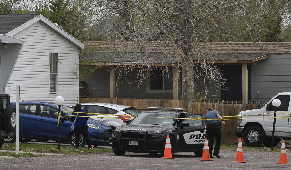 A Colorado Springs police officer at the scene of the mass shooting