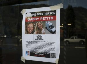 A missing person poster