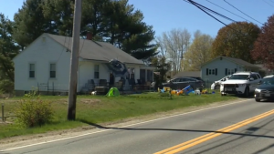The house in West Bath, Maine, where a 2-year-old accidentally shot his parents