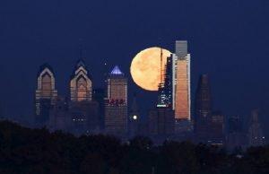 Philadelphia night sky
