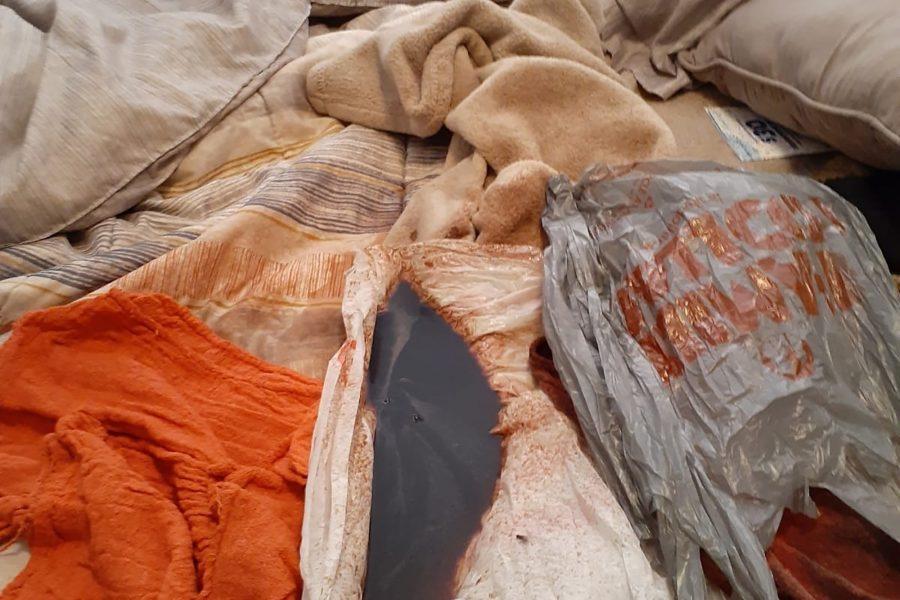 Cardenas's bloodstained belongings