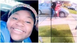 Ma'Khia Bryant; bodycam footage (right) shows her apparently attempting to stab someone before being fatally shot by police